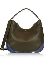 Anya Hindmarch Cooper python-trimmed textured-leather shoulder bag