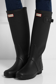 Hunter Original Ribbed Leg Wellington boots