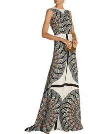 Etro Embellished printed crepe gown