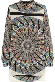 Etro Printed washed-silk top