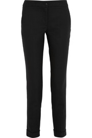 Etro Cropped stretch-wool straight-leg pants