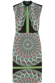 Etro Printed washed-silk dress