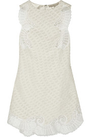 Vanessa Bruno Bellin silk-appliquéd lace mini dress