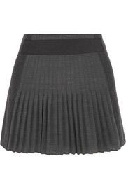 Vanessa Bruno Bahia paneled wool and mohair-blend mini skirt