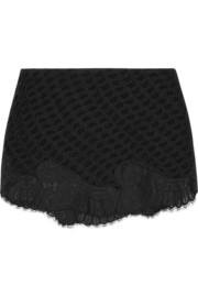 Vanessa Bruno Birmania silk-appliquéd lace mini skirt