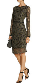 DAY Birger et Mikkelsen Grosgrain-trimmed embroidered lace dress