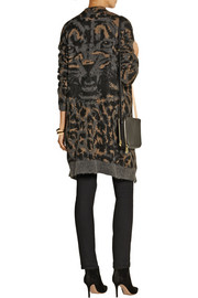 DAY Birger et Mikkelsen Leopard-patterned knitted cardigan
