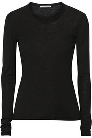 James Perse Slub cotton-jersey top