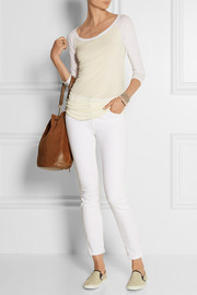 James Perse Raglan-sleeve stretch-cotton jersey top