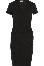 James Perse Wrap-effect cotton-blend jersey dress