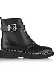 MICHAEL Michael Kors Vivia zip-trimmed leather ankle boots
