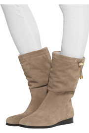 MICHAEL Michael Kors Lizzie shearling-lined suede boots