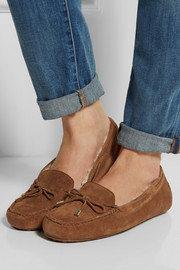 MICHAEL Michael Kors Daisy shearling-lined suede loafers