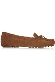 Daisy shearling-lined suede loafers