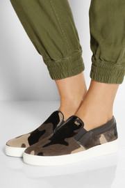 MICHAEL Michael Kors Keaton camouflage-print calf hair slip-on sneakers