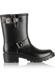 MICHAEL Michael Kors Davenport leather-trimmed rubber rain boots