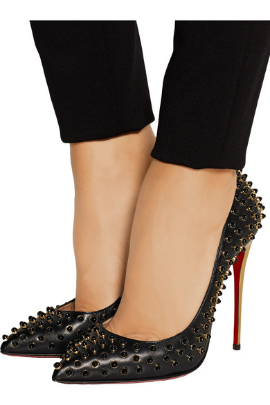 b519ae78649f Christian Louboutin. Follies Cabo 120 embellished leather pumps