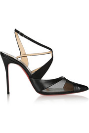 Christian Louboutin Evoluta 100 leather, suede and mesh pumps