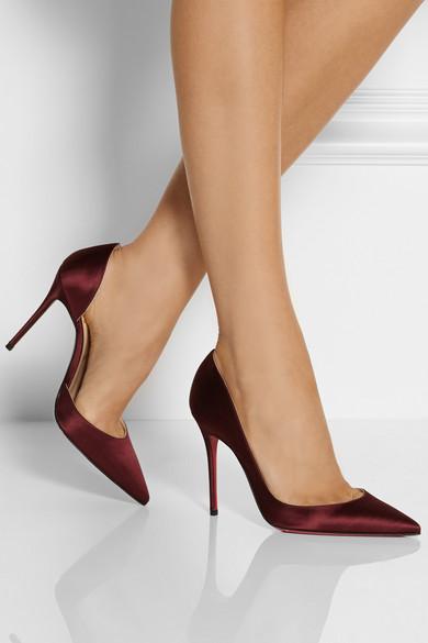mens red bottoms cheap - Christian Louboutin | Iriza 100 satin d'Orsay pumps | NET-A-PORTER.COM