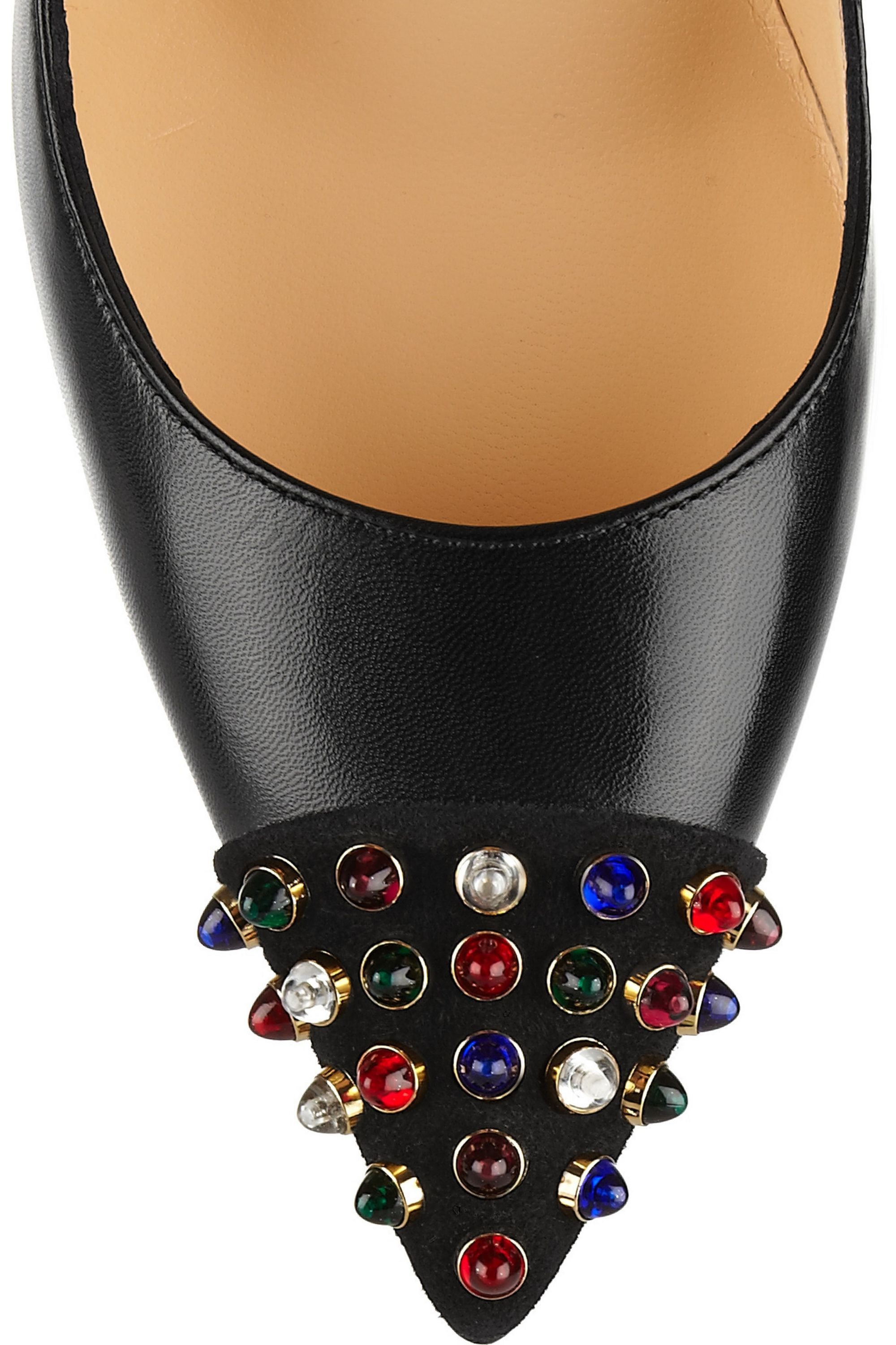 Christian Louboutin Cabo 120 embellished leather pumps