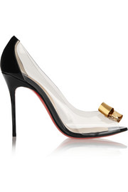 Justinodo 100 embellished PVC and patent-leather pumps