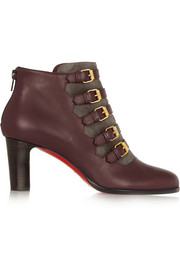 Christian Louboutin Attroupe 60 buckled leather and suede ankle boots