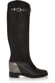 Christian Louboutin Foresta 20 nubuck and leather knee boots