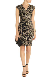 Roberto Cavalli Leopard-print stretch-jersey dress