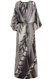 Roberto Cavalli Printed silk-georgette maxi dress