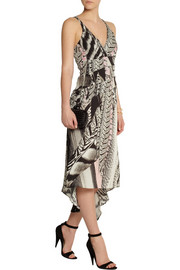 Roberto Cavalli Printed silk crepe de chine dress