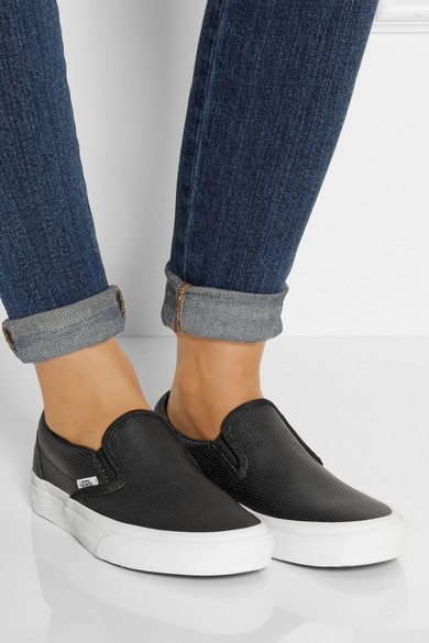 Vans Perforated Leather Slip On Sneakers Net A Porter Com