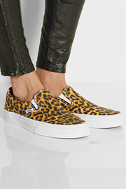Vans Leopard-print canvas slip-on sneakers