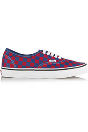 Vans Authentic checked canvas sneakers