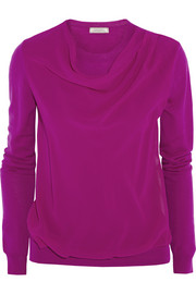 Nina Ricci Wool and silk-crepe sweater