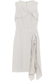 Nina Ricci Paneled asymmetric stretch-wool crepe dress