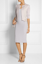 Nina Ricci Lace-paneled wool and cashmere-blend jacket