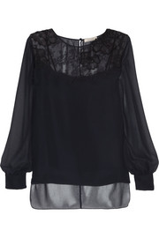 Nina Ricci Lace and georgette top