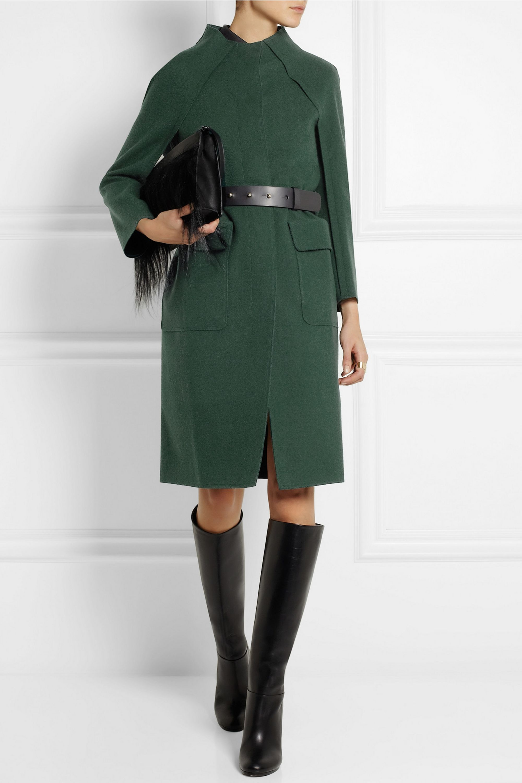 Nina Ricci Belted brushed-gabardine coat