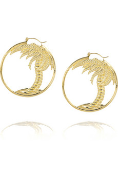 Stella McCartney Palm tree hoop earrings