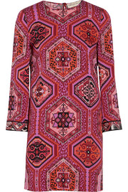 Emilio Pucci Printed stretch-silk mini dress