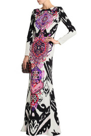 Emilio Pucci Printed silk-cady maxi dress