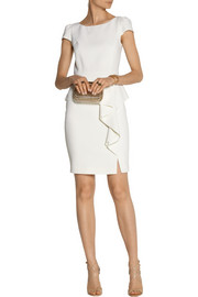 Emilio Pucci Stretch-wool crepe peplum mini dress