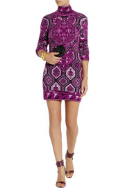 Emilio Pucci Stretch-knit jacquard mini dress