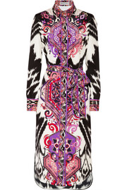 Emilio Pucci Printed silk-crepe midi dress