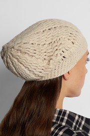 Maddy cable-knit cashmere beanie