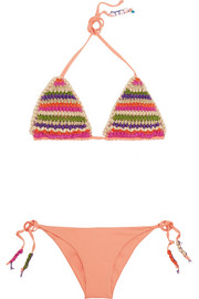Emamó Crocheted triangle bikini