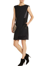 Alberta Ferretti Wrap-effect wool-blend crepe mini dress