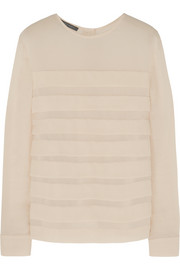 Alberta Ferretti Pleated crepe top