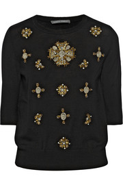 Alberta Ferretti Embellished wool sweater