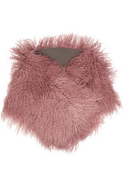 Karl Donoghue Ombré shearling scarf